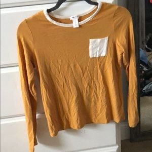 Forever 21 Mustard Yellow Pocket Shirt